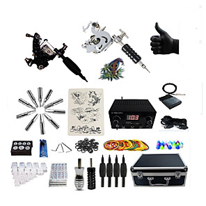 cheap Professional Tattoo Kits-BaseKey Professional Tattoo Kit Tattoo Machine - 2 pcs Tattoo Machines, Professional 20 W LED power supply 2 steel machine liner & shader / Case Included