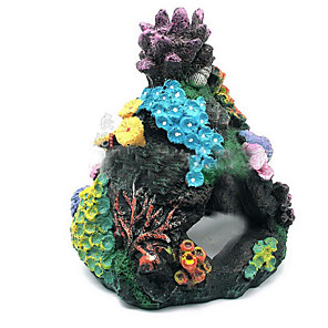 cheap Aquarium Décor & Gravel-Fish Tank Aquarium Decoration Ornament Coral Jellyfish Non-toxic & Tasteless Resin