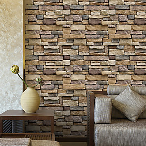 cheap Wall Stickers-3D Brick Stone Adhesive Wallpapers For Wall Home Decor 45cm*100cm