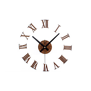 cheap Wall Clocks-Casual / Modern Contemporary / Office / Business Wood / Metal Round Novelty / Holiday / Inspirational Indoor / Outdoor AA Decoration Wall Clock Analog Others No