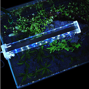 cheap Pumps & Filters-Aquarium Light LED Light 1pc Fish Tank Light White Blue With Switch(es) Plastic 3,6,9,12 W 220 V / #