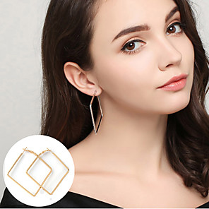 cheap Earrings-Women's Hoop Earrings Statement Ladies Basic Simple Style Earrings Jewelry Gold / Silver For Party Daily Casual