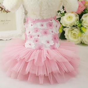 cheap Dog Clothes-Cat Dog Dress Dog Clothes Purple Pink Costume Cotton Princess S M L