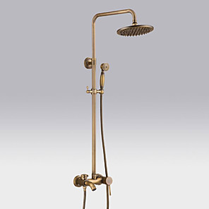cheap Bathtub Faucets-Shower Faucet - Antique / Country / Modern Antique Copper Centerset Ceramic Valve / Brass / Single Handle One Hole Bath Shower Mixer Taps