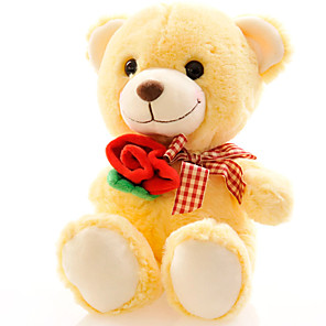 cheap Stuffed Animals-Bear Teddy Bear Stuffed Animal Plush Toy Cute Lovely Boys' Girls' Perfect Gifts Present for Kids Babies Toddler / Kid's