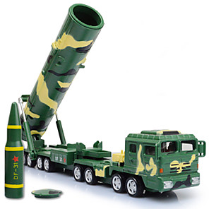cheap Toy Trucks & Construction Vehicles-KDW 1:64 Metalic Plastic Military Vehicle Missile Truck Toy Truck Construction Vehicle Toy Car Chariot Boys' Girls' Kid's Car Toys
