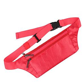 hesapli Plecaki i torby-Koşu Kemeri Bel Çantası Bel Çantaları 0.1 L için Yoga Koşma Maraton Kamp & Yürüyüş Plecaki sportowe Çok Fonksiyonlu Su Geçirmez Yağmur-Geçirmez Terylene Su geçirmez malzeme Koşu Çantası / iPhone X
