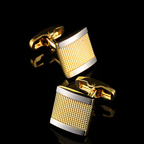 cheap Pendant Lights-Cufflinks Classic Gift Boxes & Bags Fashion Brooch Jewelry Golden For Party Business / Ceremony / Wedding