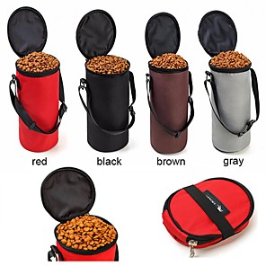 cheap Synthetic Trendy Wigs-Cat / Dog Bowls & Water Bottles Pet Bowls & Feeding Portable / Foldable Gray / Coffee / Red
