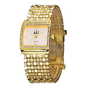 cheap Bracelet Watches-ASJ Women's Ladies Luxury Watches Bracelet Watch Gold Watch Luxury Imitation Diamond Gold Analog - White Black / Japanese / Japanese