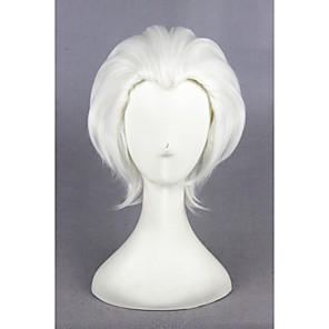 cheap Synthetic Trendy Wigs-Synthetic Wig Cosplay Wig Straight Straight Wig Short White Synthetic Hair Women's White