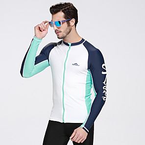 cheap Wetsuits, Diving Suits & Rash Guard Shirts-SBART Men's Elastane UV Sun Protection Breathable Ultraviolet Resistant Long Sleeve Diving Surfing Classic Spring Summer Fall / Winter