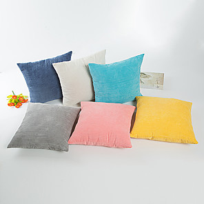 cheap Pillow Covers-1 pcs Cotton Pillow Case, Solid Colored Modern Contemporary Traditional / Classic