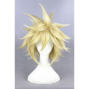 cheap Costume Wigs-Synthetic Wig Cosplay Wig Straight Straight Wig Blonde Short Golden Blonde Synthetic Hair Women's Blonde