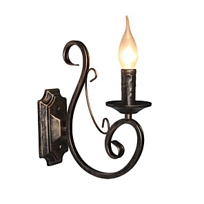 cheap Wall Sconces-Rustic / Lodge Wall Lamps & Sconces Metal Wall Light 110-120V / 220-240V 45W