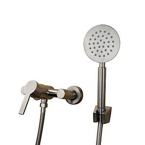 povoljno Kuhinjski sudoperi-Art Deco / Retro Tradicionalno Kada i tuš Slavine s tri otvora Keramičke ventila Two Holes Jedan obrađuju dvije rupe Nehrđajući čelik,