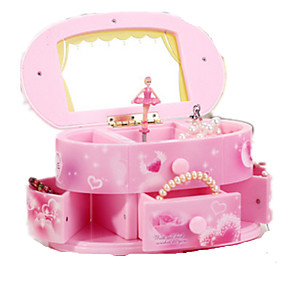 cheap Music Boxes-Music Box Music Jewelry box Ballerina Music Box Musical Jewellery Box Music Box Dancer Classic & Timeless Pink Ballet Dancer Lighting Unique Plastic Women's Boys' Girls' Kid's Adults Graduation Gifts