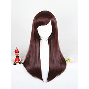 cheap Synthetic Trendy Wigs-Synthetic Wig Cosplay Wig Straight Straight With Bangs Wig Medium Length Brown Synthetic Hair Women's Brown