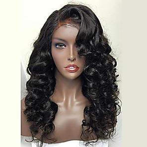 cheap Human Hair Wigs-Premierwigs 8a brazilian full lace human hair 130% Hair Density wig for woman wavy human hair wigs with baby hair full lace wig