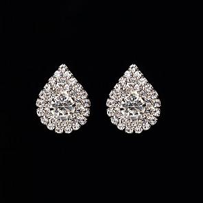 cheap Earrings-Women's Stud Earrings Basic Cute Earrings Jewelry Silver For Wedding Party Halloween Daily