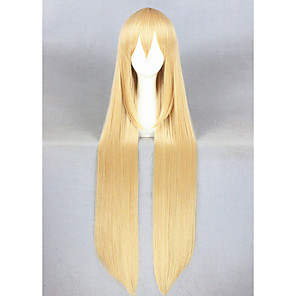 cheap Costume Wigs-Synthetic Wig Cosplay Wig Straight Straight Wig Blonde Long Blonde Synthetic Hair Women's Blonde