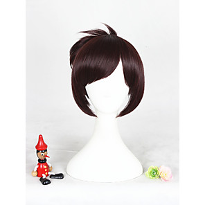 cheap Synthetic Trendy Wigs-Synthetic Wig Cosplay Wig Straight Straight Wig Short Brown Synthetic Hair Women's Brown