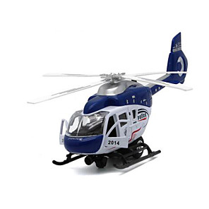 cheap Building Blocks-Pull Back Vehicle Helicopter Metal for Kid's
