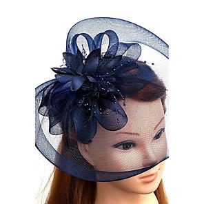 povoljno Party pokrivala za glavu-Til / Perje / Net Fascinators / kape / Šeširi s Cvjetni print 1pc Vjenčanje / Special Occasion / Čajanka Glava