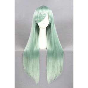 cheap Synthetic Lace Wigs-Synthetic Wig Cosplay Wig Straight Straight Wig Long Green Synthetic Hair Women's Green