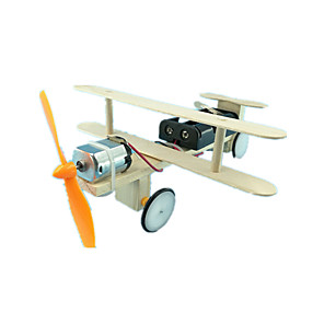 cheap Building Blocks-Solar Powered Toy Model Building Kit Fighter Aircraft Eco-friendly Electric Unisex Toy Gift