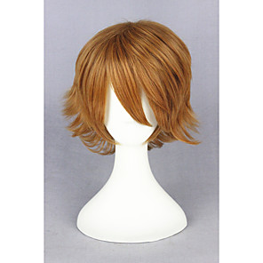 cheap Synthetic Trendy Wigs-Synthetic Wig Straight Straight Wig Blonde Short Blonde Synthetic Hair Blonde