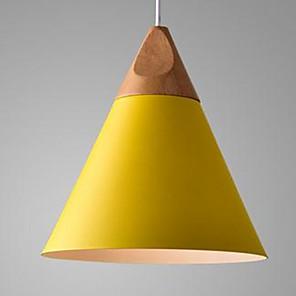 cheap Pendant Lights-1-Light 25 cm LED Pendant Light Aluminum Cone Painted Finishes Modern Contemporary 110-120V / 220-240V