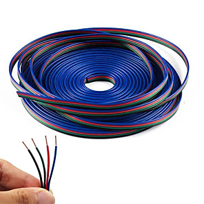cheap LED Strip Lights-KWB 20M 4-Pin RGB Extension Cable Wire Cord for 5050 3528 Color Changing Flexible LED Strip Light
