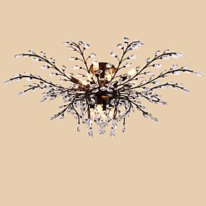 cheap Wedding Shoes-LightMyself™ 115 cm Crystal / LED Flush Mount Lights Metal Painted Finishes Modern Contemporary 110-120V / 220-240V / E12 / E14