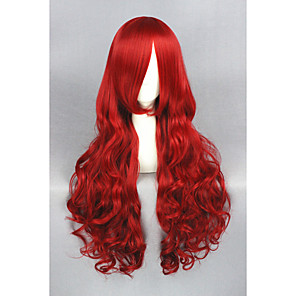 cheap Synthetic Trendy Wigs-Synthetic Wig Curly Curly Wig Long Red Synthetic Hair Women's Red