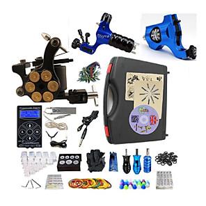 cheap Tattoo Ink-BaseKey Professional Tattoo Kit Tattoo Machine - 3 pcs Tattoo Machines, Professional Aluminum Alloy 19 W LED power supply 2 rotary machine liner & shader / 1 alloy machine liner & shader