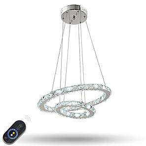 povoljno Dizajn kruga-Privjesak Svjetla Ambient Light Electroplated Metal Crystal, Zatamnjen, LED 110-120V / 220-240V Uključen je LED izvor svjetlosti / Integrirano LED svjetlo