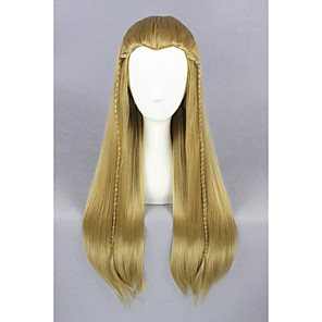 cheap Synthetic Trendy Wigs-Synthetic Wig Straight Straight Wig Medium Length Brown Synthetic Hair Brown