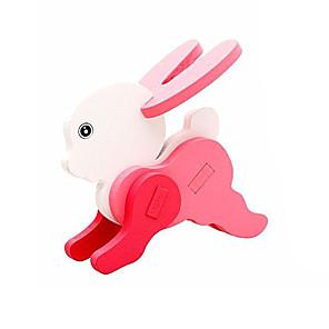 cheap Wooden Puzzles-3D Puzzle Pegged Puzzle Wooden Model Rabbit Fun Wood Classic Kid's Unisex Toy Gift