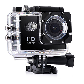 cheap Sports Action Cameras-CA7 vlogging Waterproof / Multi-function / Wide Angle 32 GB 60fps / 120fps / 30fps 12 mp 1920 x 1080 Pixel 2 inch CMOS Burst Mode / Time-lapse 30 m