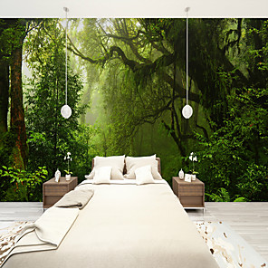 cheap Wall Stickers-Forest Old Tree Custom 3D Large Wall Covering Mural Wallpaper Fit Restaurant Bedroom Office Landscape