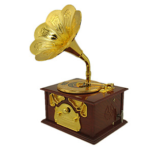 cheap Music Boxes-Music Box Vintage Phonograph Unique Plastic Metal Women's Unisex Girls' Kid's Adults Graduation Gifts Toy Gift