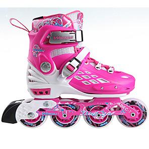 baratos Patins-Patins em Linha Crianças Ajustável, Luzes LED, Anti-desgaste Azul, Rosa Patinação no Gelo / Andar de patins