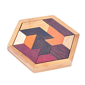 cheap Maze & Sequential Puzzles-Wooden Puzzle IQ Brain Teaser Luban Lock Fun IQ Test Wood Classic Kid's Toy Gift