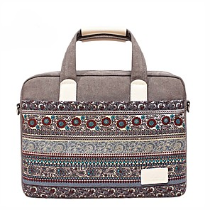"cheap Sleeves,Cases & Covers-13.3"" 14"" 15.6"" Bohemian Style Canvas Laptop Shoulder Messenger Bag Handbags for Macbook/Surface/HP/Dell/Samsung/Sony Etc"