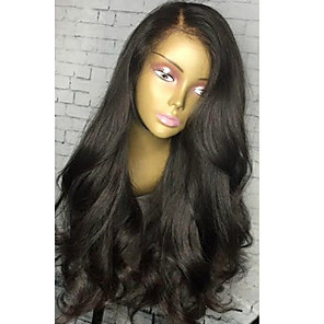 cheap Human Hair Capless Wigs-top glueless lace front human hair wigs with baby hair 8a brazilian wavy virgin human hair 130 density lace front wigs natural color for black women