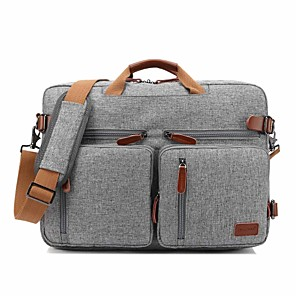 "cheap Laptop Bags & Backpacks-CooBELL 17"" Laptop Shoulder Messenger Bag / Commuter Backpacks / Briefcase Handbags Textile Solid Color for Business Office"