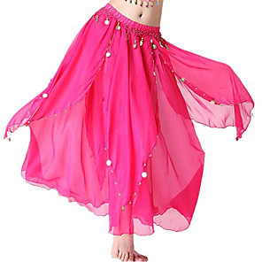 cheap Synthetic Trendy Wigs-Belly Dance Skirts Pendant Women's Performance High Chiffon