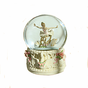 cheap Music Boxes-Music Box Snow Globe Ballerina Music Box Christmas Music Box Antique Music Box Music Box Dancer Classic Ballet Dancer LED Light Rotating Unique Crystal Resin Glass Women's Unisex Girls' Kid's Adults