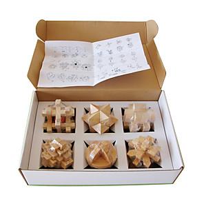 cheap Building Blocks-Speed Cube Set Magic Cube IQ Cube Wood Building Blocks Jigsaw Puzzle Wooden Puzzle Puzzle Cube Fun IQ Test Classic Kid's Toy Unisex Gift